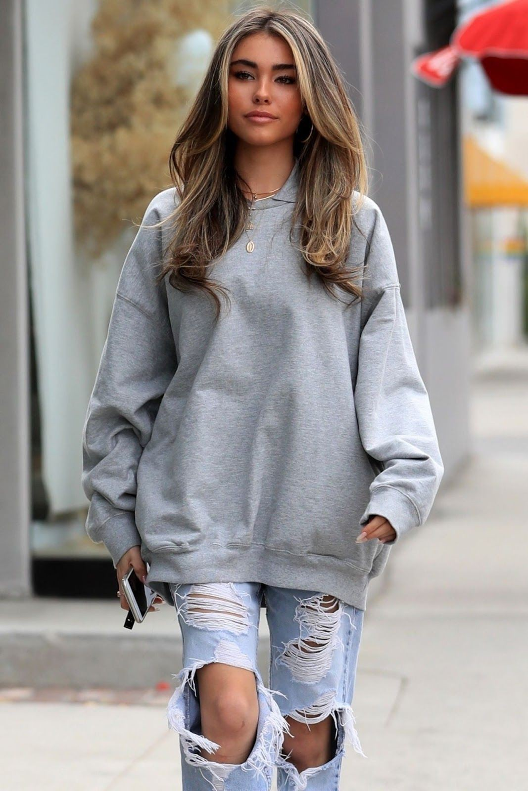 Colour outfit madison beer outfits urth caffé melrose, street fashion