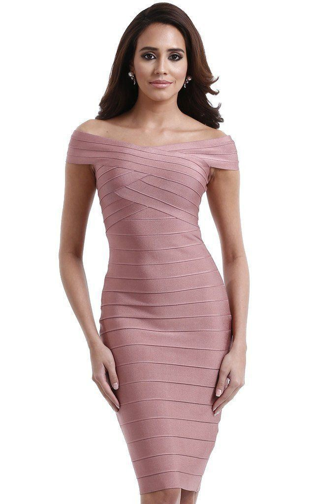 Pink colour outfit with cocktail dress, sheath dress