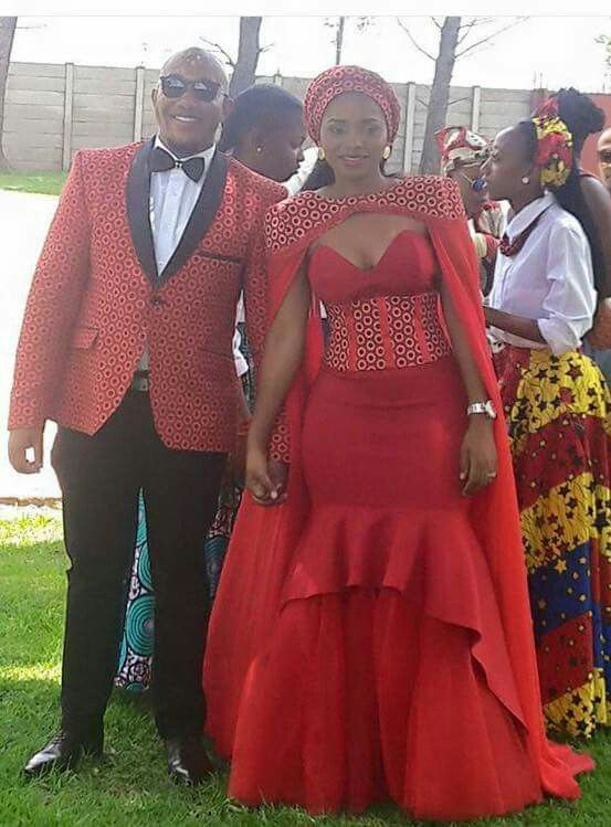 Red traditional wedding dresses african wax prints, wedding dress