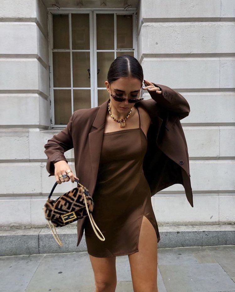 Brown fashionnova clothing ideas with trousers, jacket, blazer