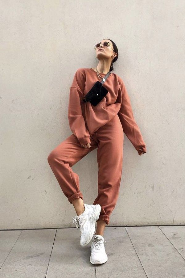 Brown outfit ideas with sportswear, trousers, pajamas