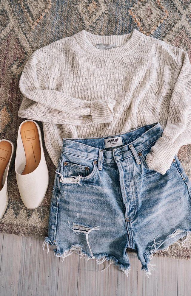 Short jean design tendance 2019, casual wear, crop top, t shirt