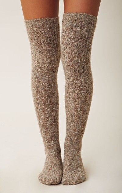 Fuzzy socks thigh high thigh high boots, leg warmer