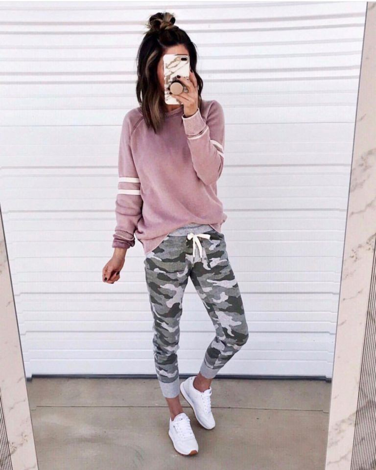 Pink trendy clothing ideas with sportswear, sweatpant, leggings