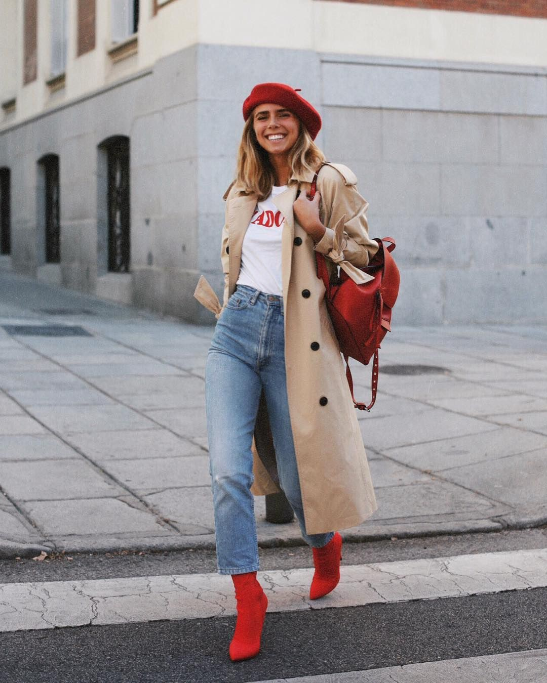 Dresses ideas lucia barcena instagram, street fashion, casual wear, trench coat, t shirt