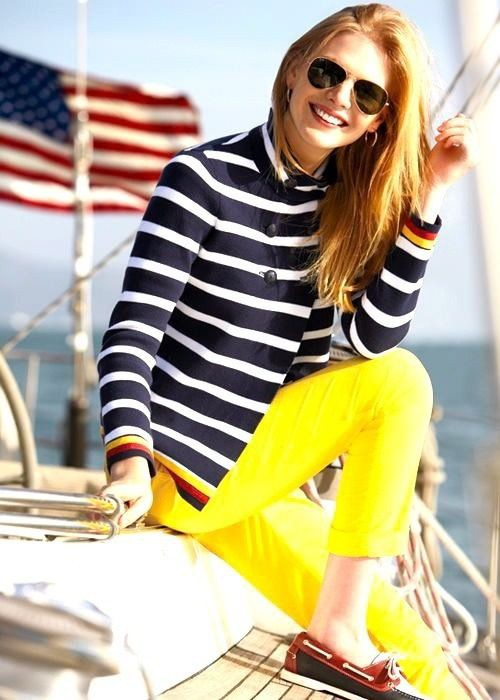 Yellow and white beautiful clothing ideas with trousers, blazer, jeans