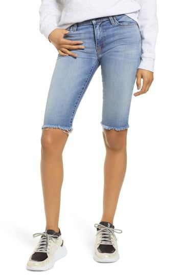 Knee length jean shorts, bermuda shorts, hudson jeans, jeans shorts, jean shorts, knee highs