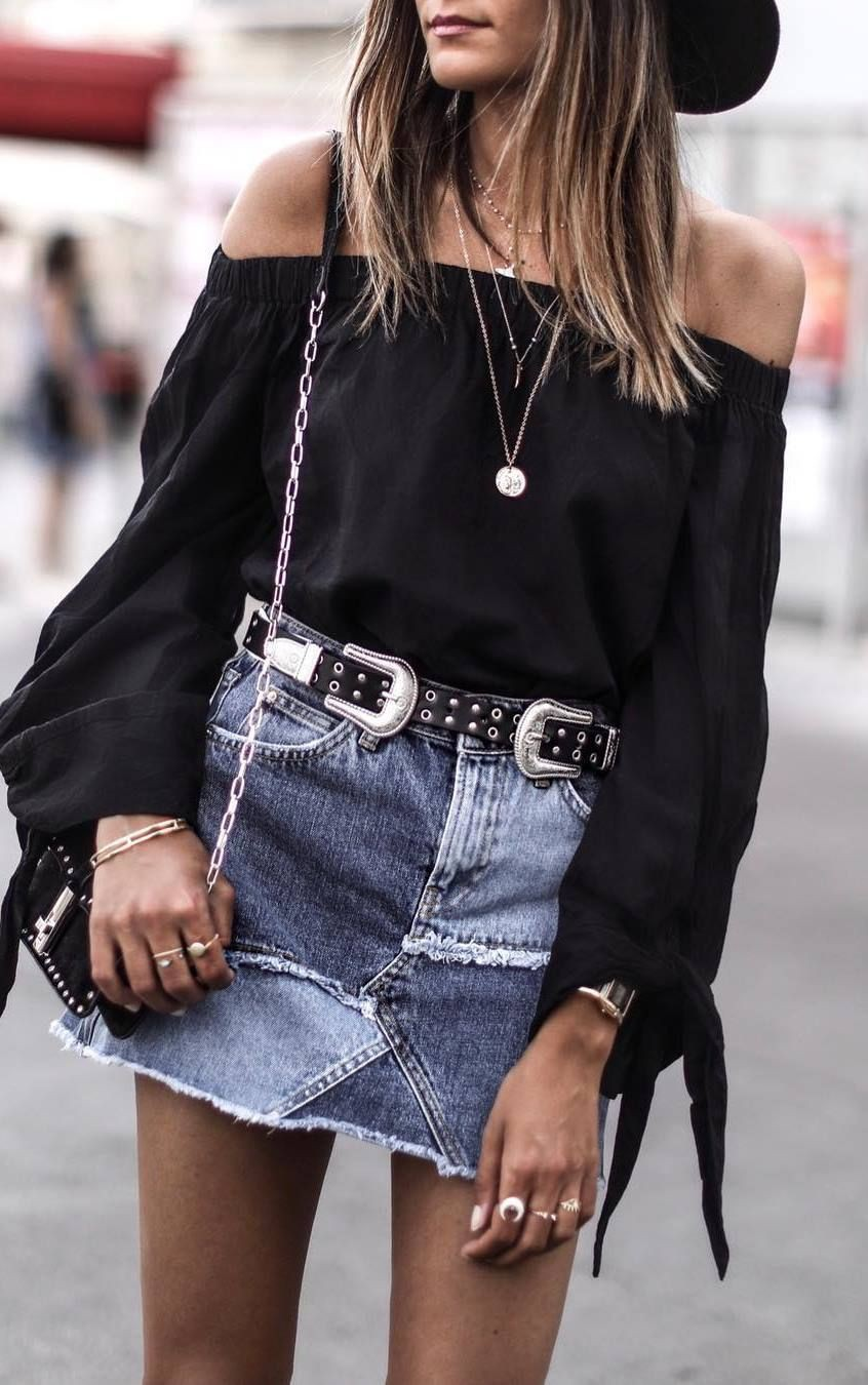 Black and white outfit Pinterest with miniskirt, shorts, skirt
