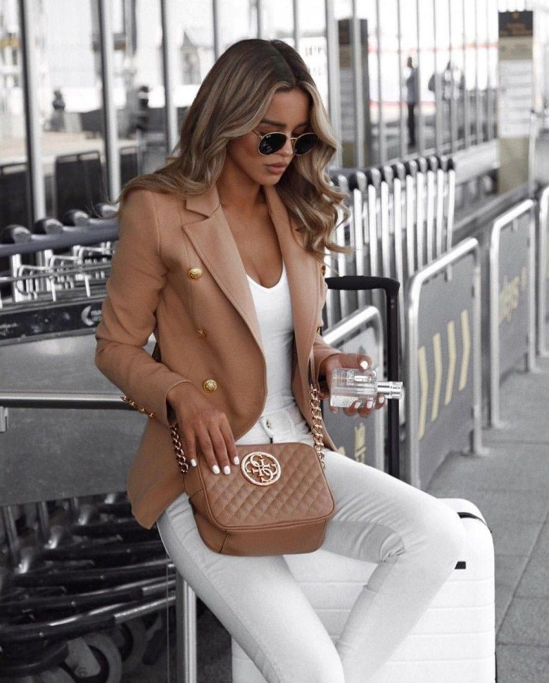 White colour outfit, you must try with jacket, blazer, coat