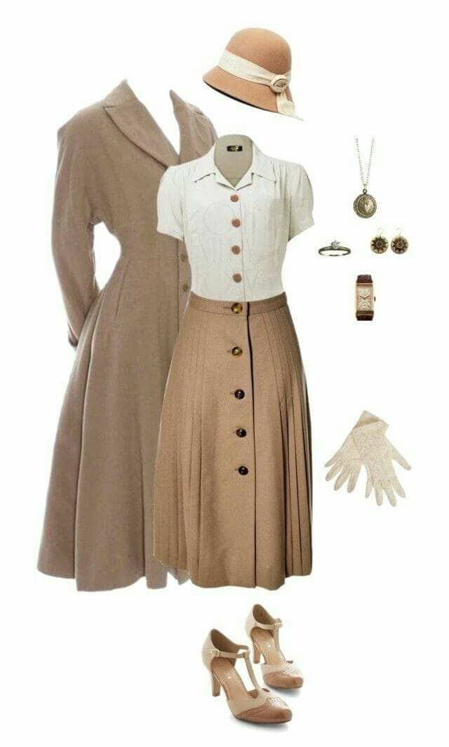 Classy vintage outfit ideas, vintage clothing, costume design, retro style, trench coat