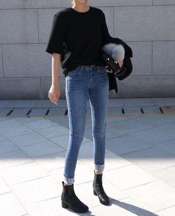 Outfit Stylevore chelsea boots outfit slim fit pants, street fashion
