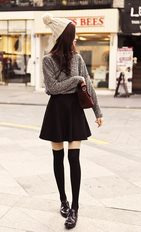 Designer outfit cute fashion outfits classic black skirt, street fashion