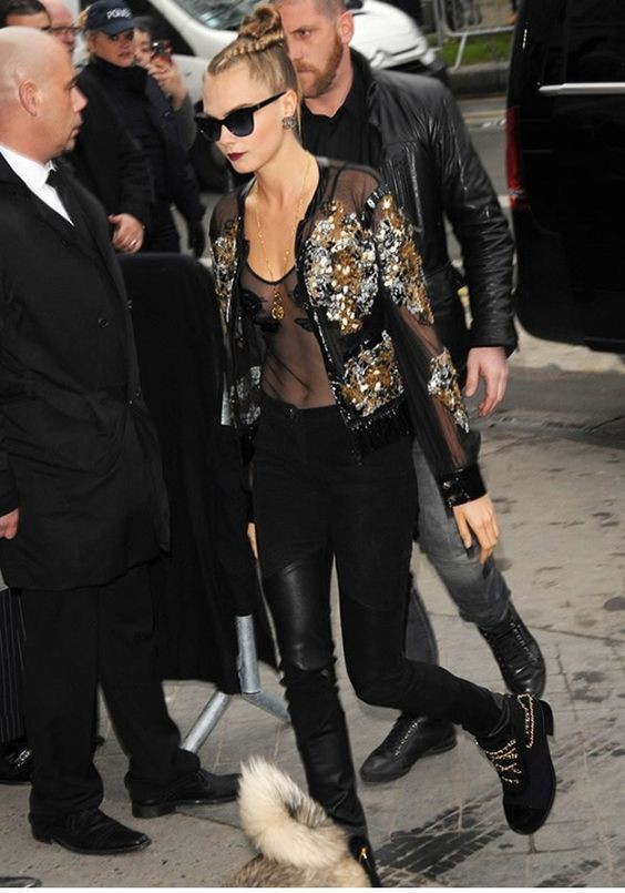 Sheer bomber jacket outfit see through clothing, knee high boot
