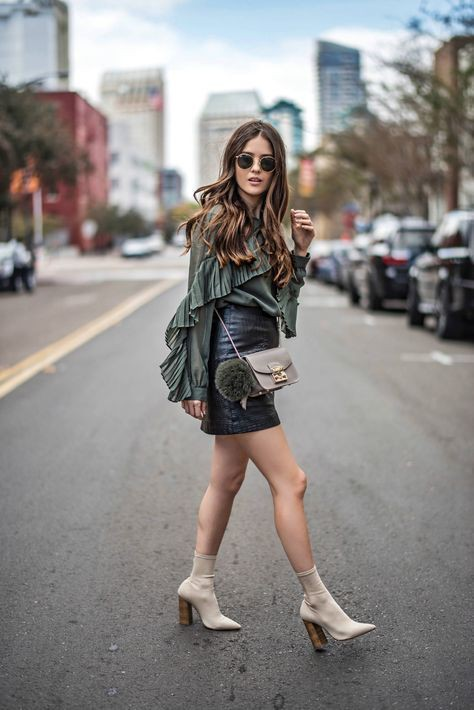 Instagram dress sock boots outfit, street fashion, fashion boot, boot socks