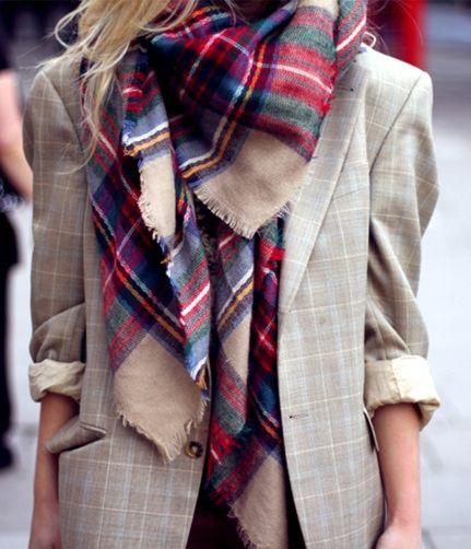 Bufanda a cuadros zara, street fashion