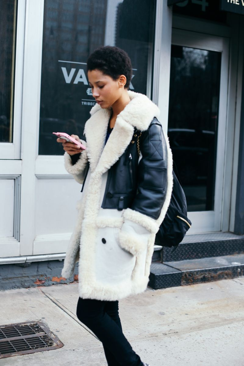 White colour dress with jacket, jeans, coat
