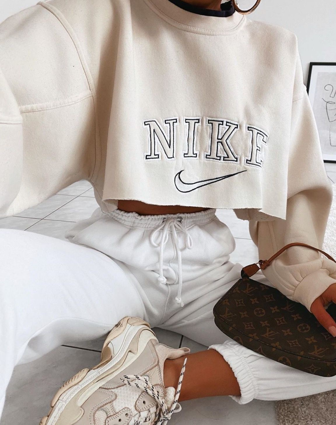 White colour combination with blouse