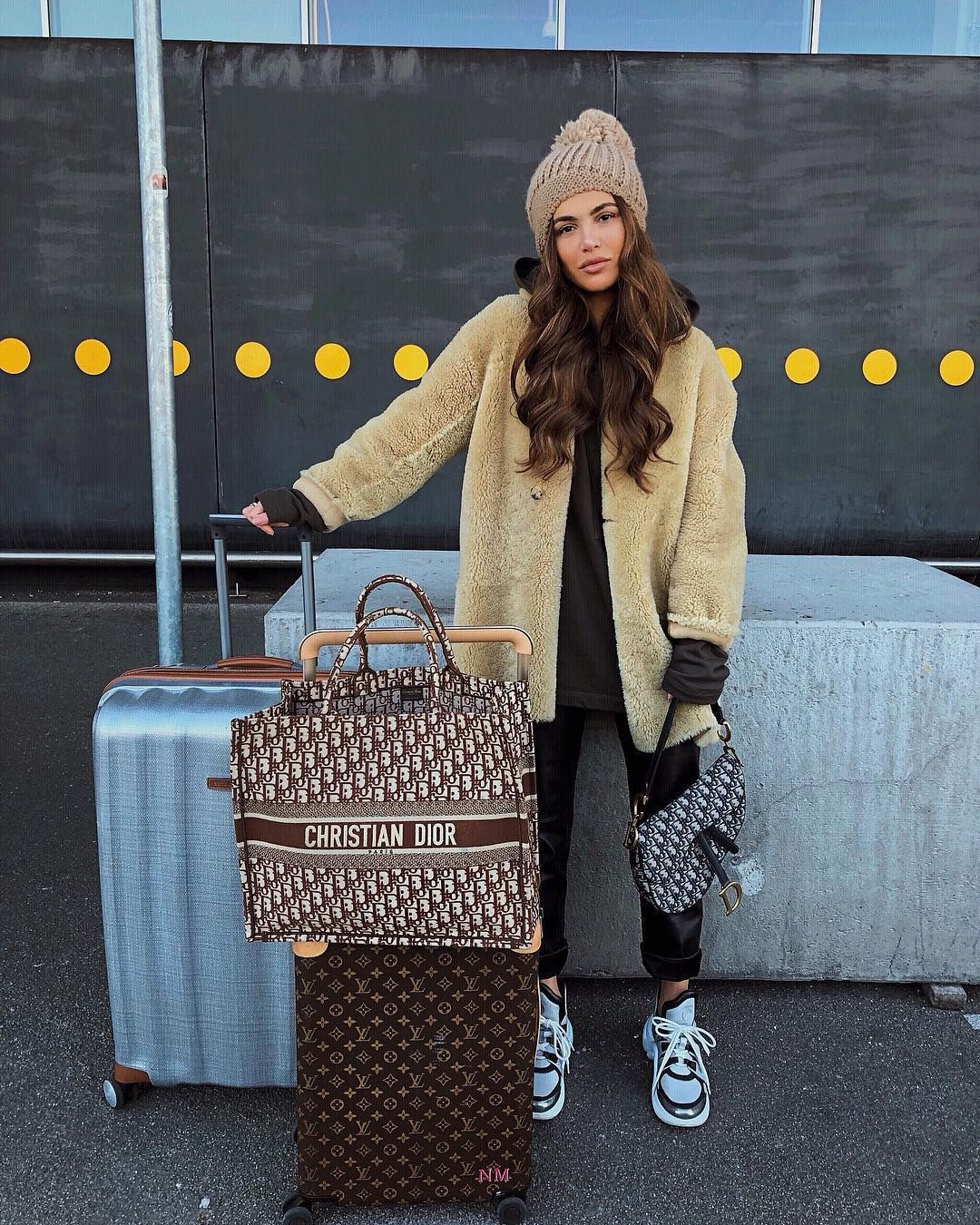 Colour combination negin mirsalehi airport, fashion accessory, negin mirsalehi, street fashion,  ...