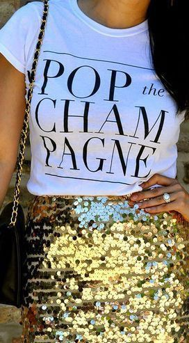 Pop the champagne shirt new years eve, vegetarian food
