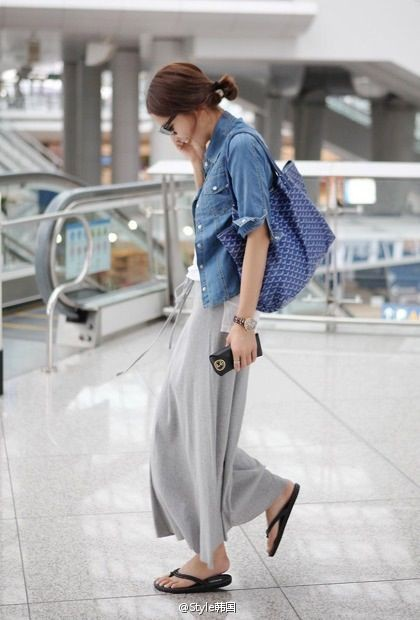 White and blue clothing ideas with skirt, jeans