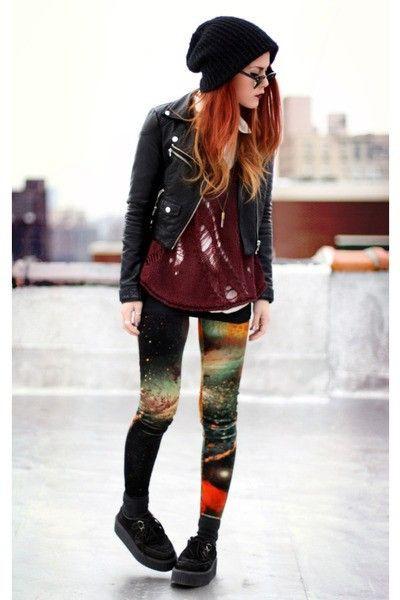 Evil twin velvet leggings, street fashion, t shirt