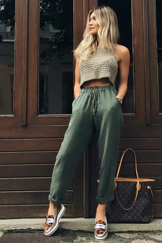 Lookbook fashion summer casual outfits, street fashion, casual wear, crop top