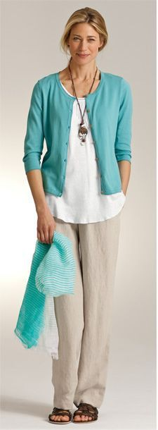 Turquoise and teal colour outfit with trousers, jacket, shirt