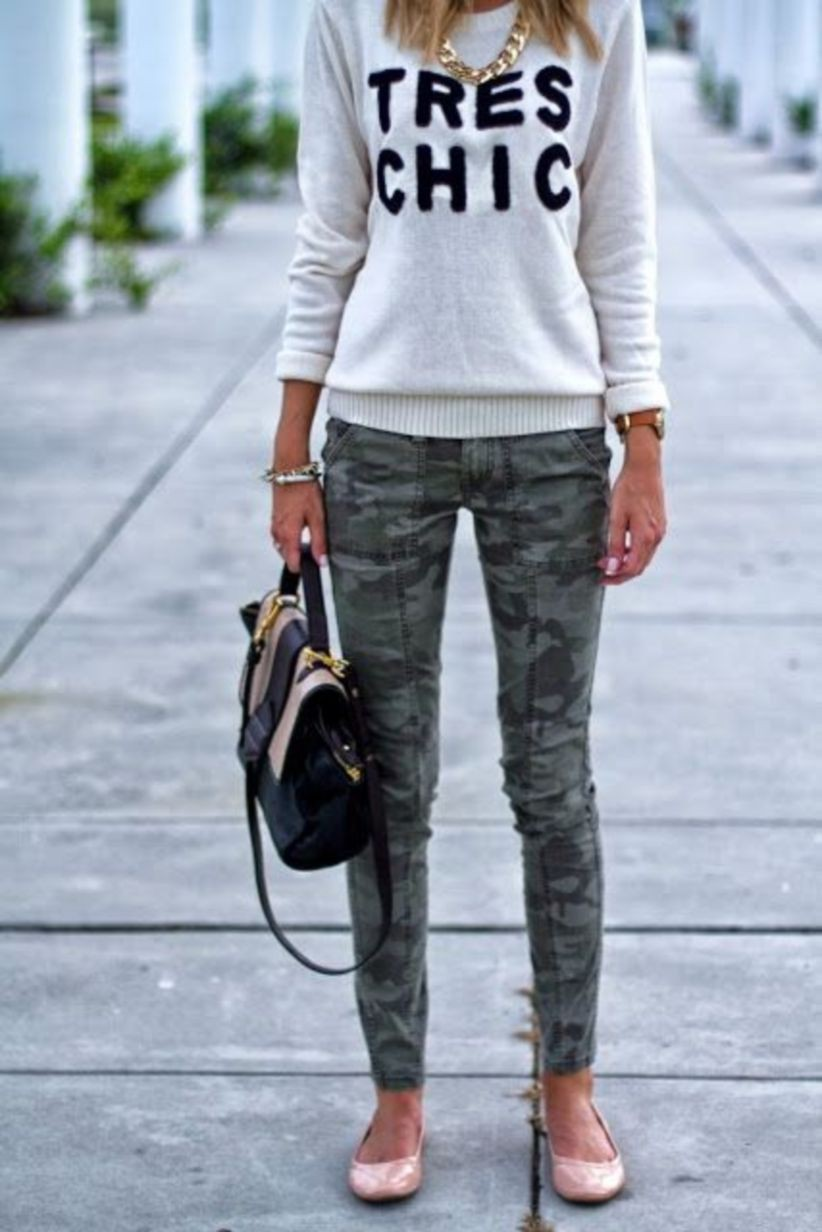 Camo skinny jeans outfit slim fit pants, military camouflage