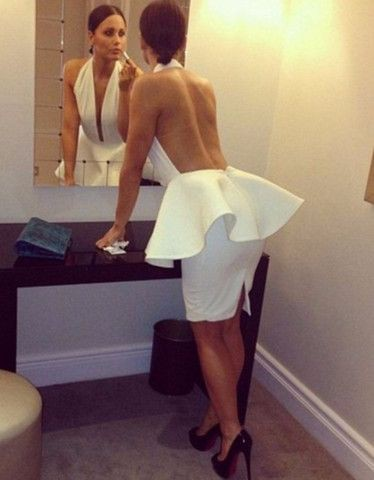 Colour outfit ideas 2020 backless peplum dress, backless dress, bandage dress, evening gown, par ...
