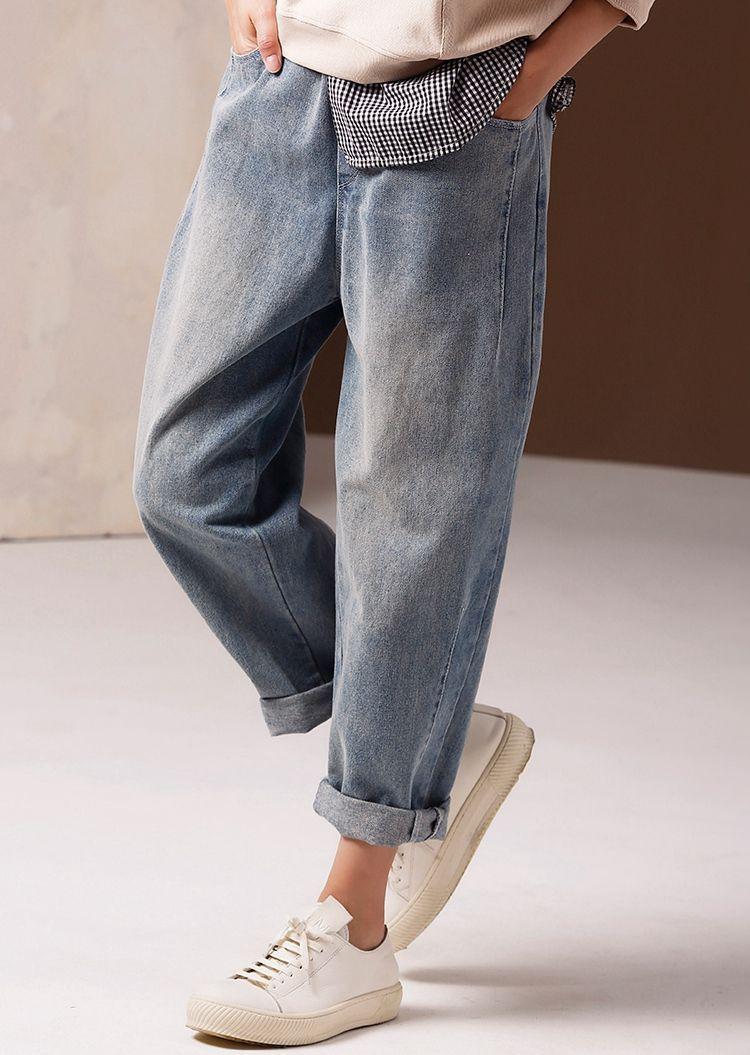 Women spring jeans n9900 wide leg jeans, slim fit pants