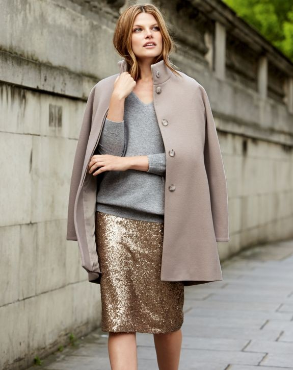 Pure collection gold sequin skirt