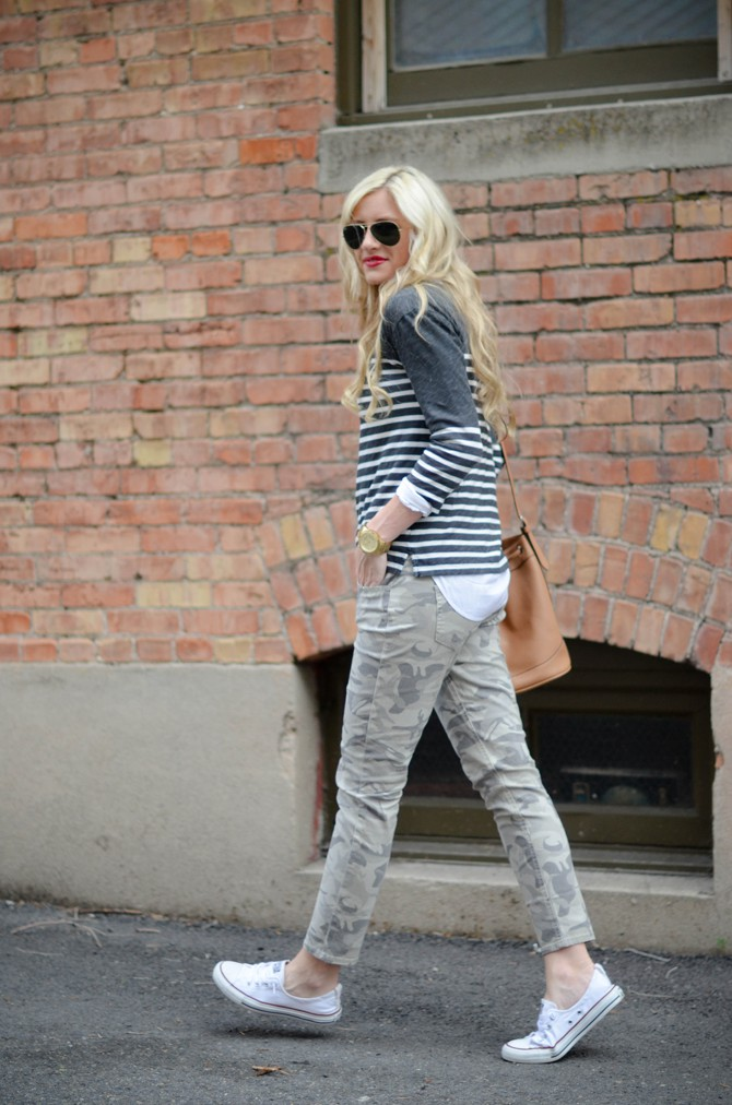 White colour outfit with denim, jeans
