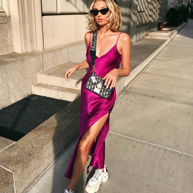 Elsa hosk slip dress dress spaghetti strap, spaghetti strap