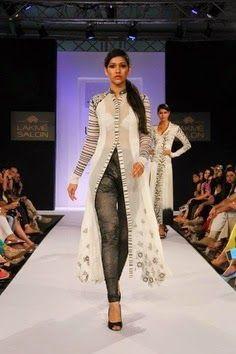 Jeans modern trendy stylish kurti
