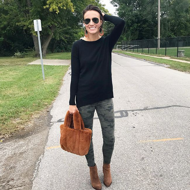 Brown outfit Pinterest with leggings, trousers, shorts