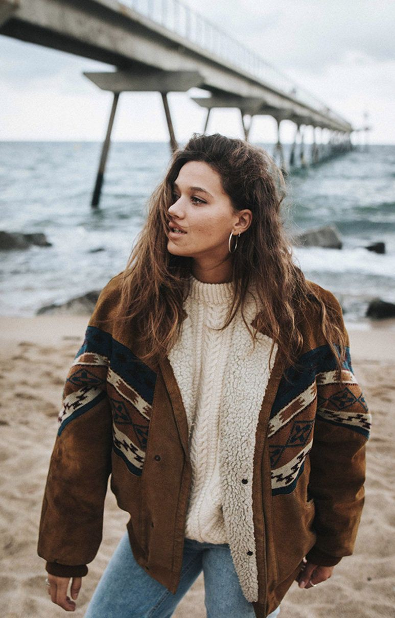Brown lookbook dress with jacket, coat