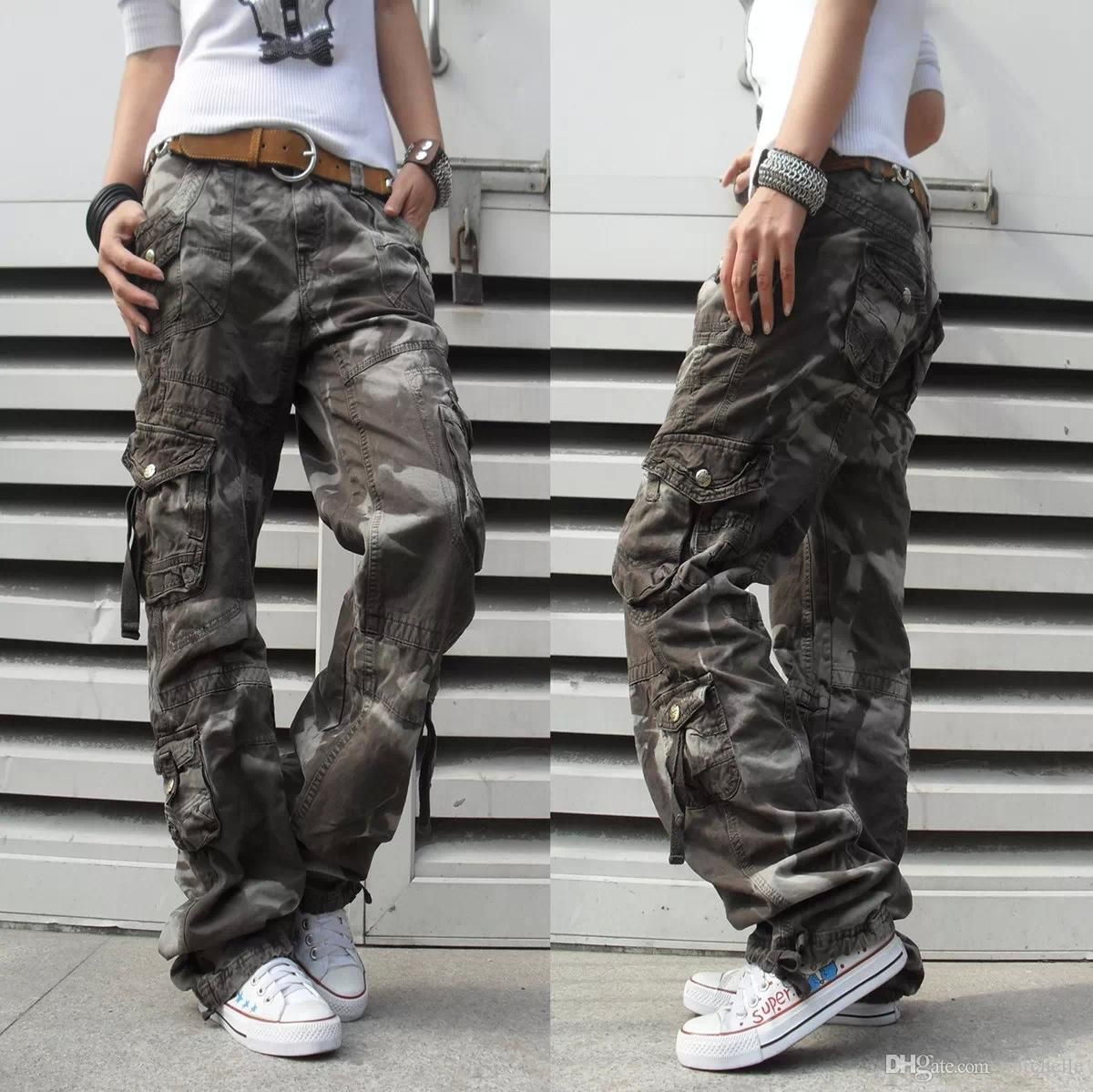 Womens baggy camo pants outfit
