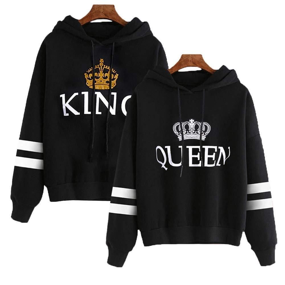King queen hoodies for couples