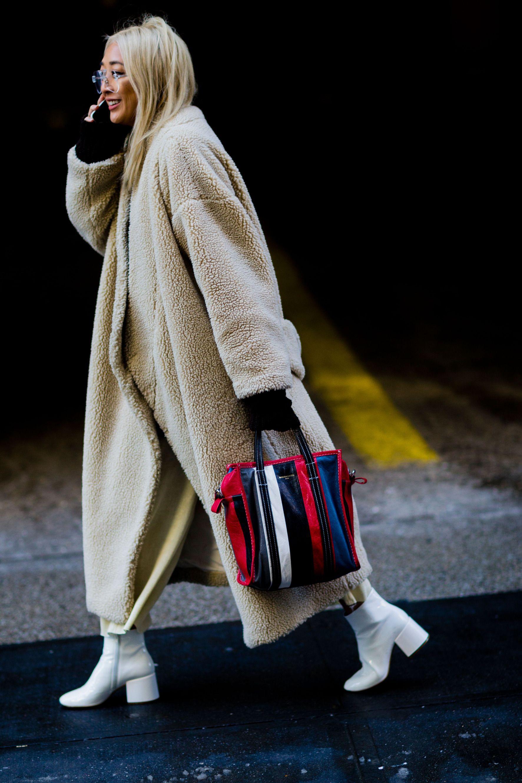 Colour dress white ankle boots, street fashion, fashion boot, snow boot