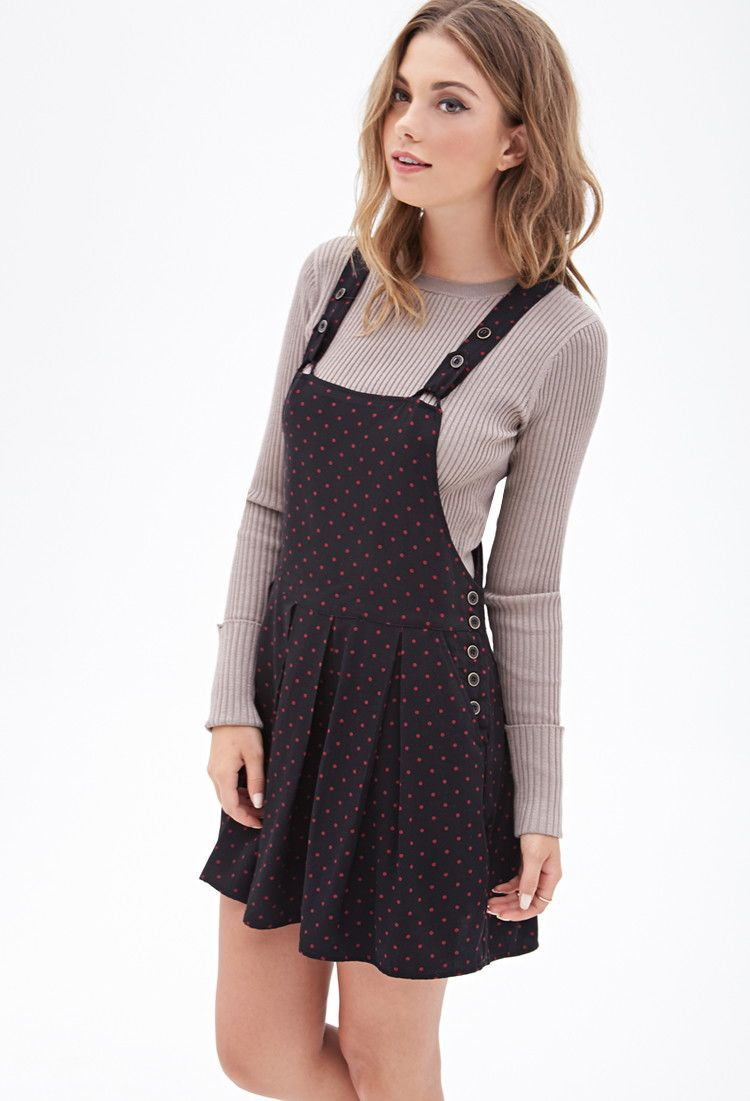 Overall skirts for womens, casual wear, polka dot, day dress, t shirt