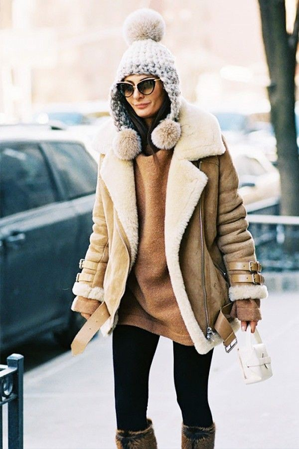 Winter warm jackets with leggings