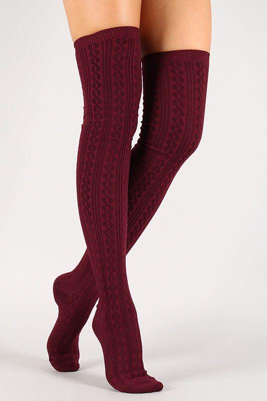 Red thigh high socks thigh high boots, leg warmer