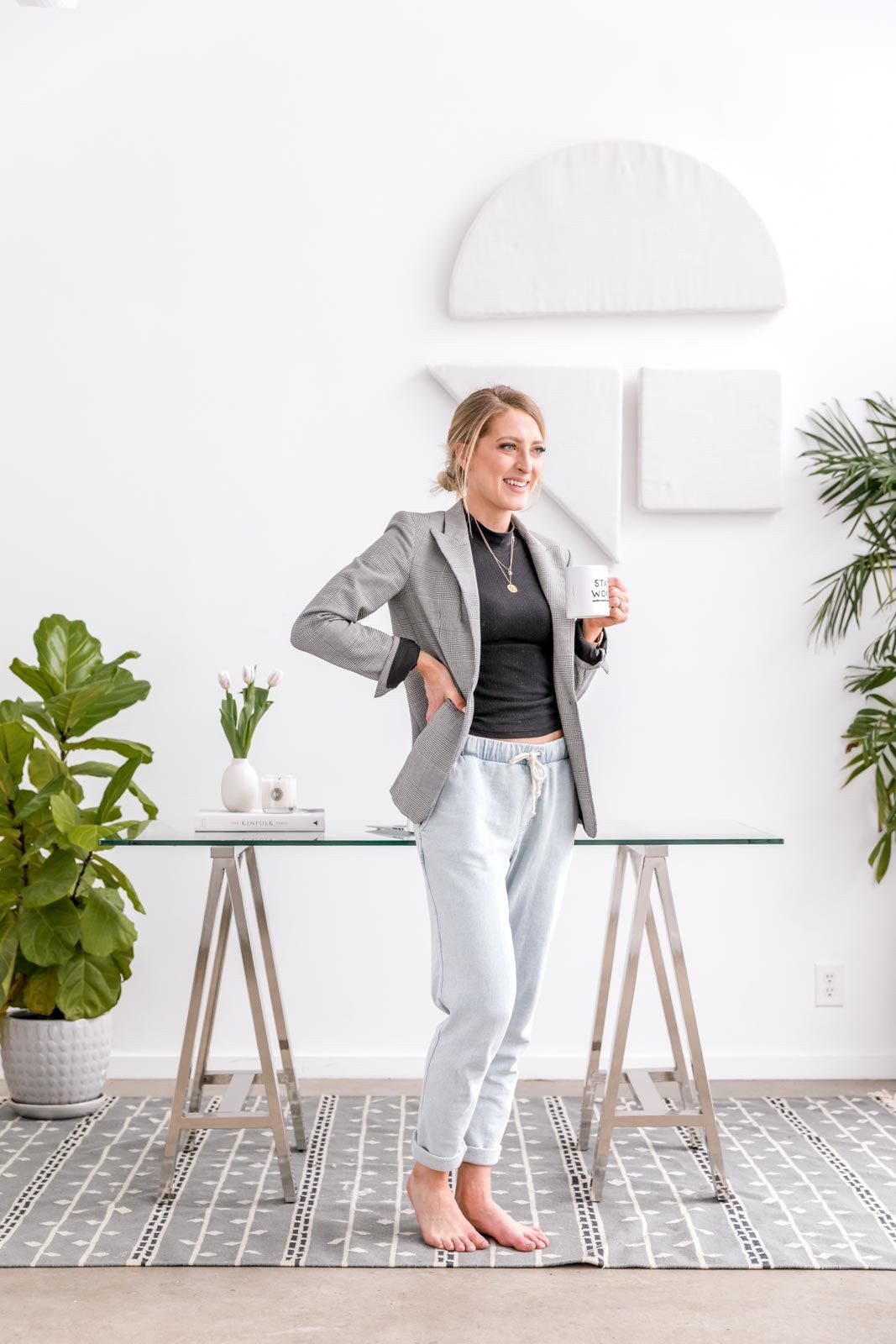 Work from home outfit, dress shirt, casual wear, formal wear