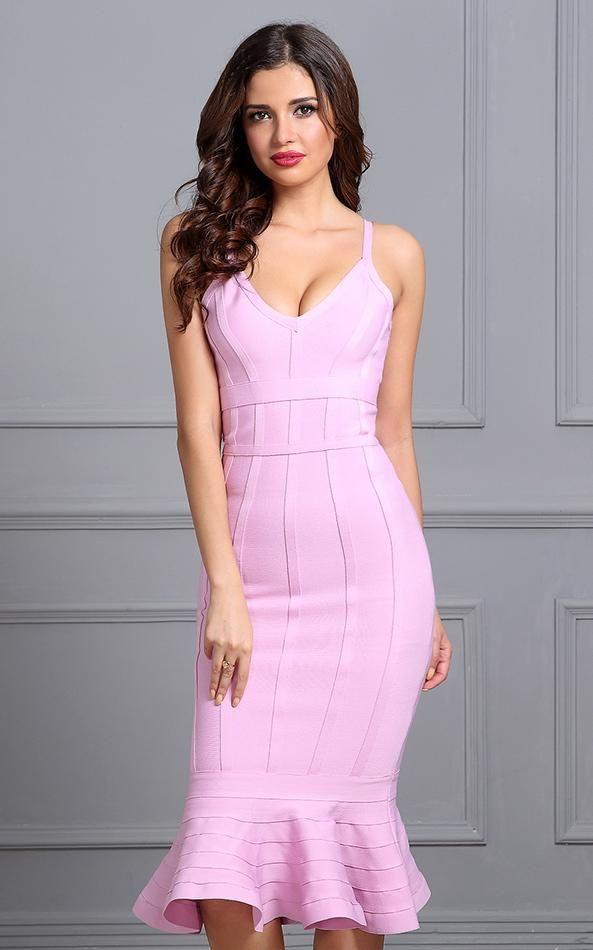 Outfit ideas bandage mermaid dress bandage strapless dress, spaghetti strap