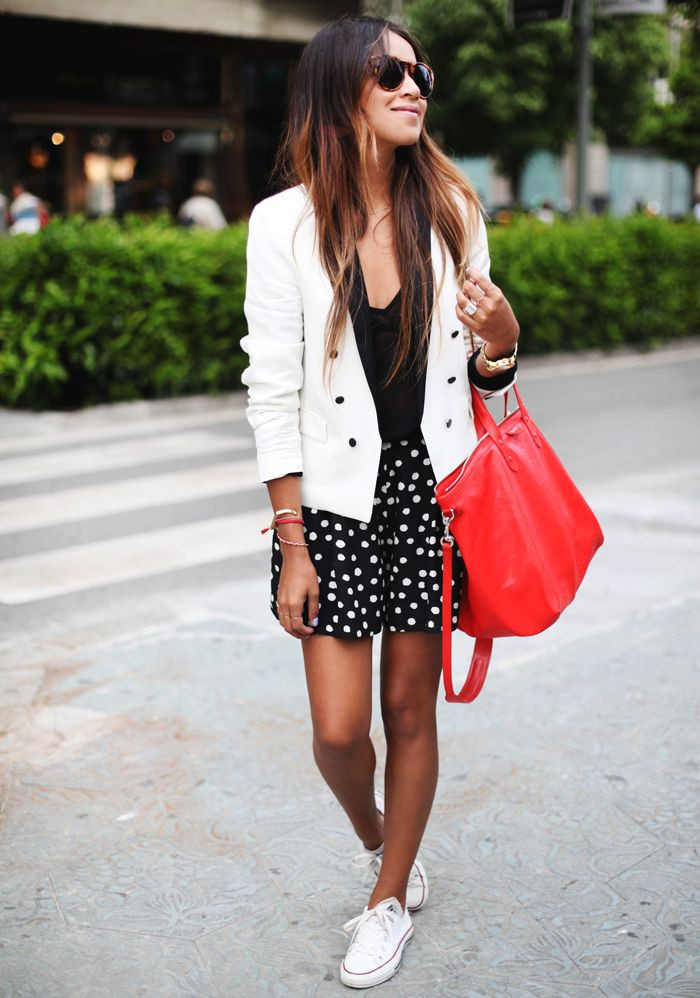 Dress white sneakers trend, fashion accessory, street fashion, sports shoes, polka dot