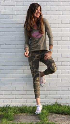 Combinar pantalon camuflaje mujer calça camuflada, pantalón verde