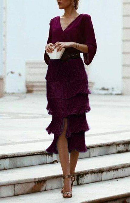 Dresses ideas falda turquesa flecos, backless dress, cocktail dress, wedding dress, fashion mode ...