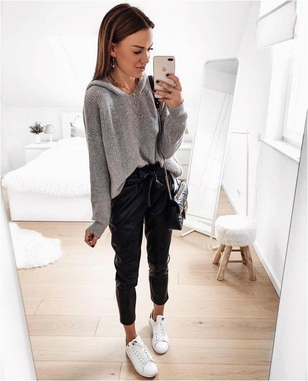 White style outfit with sportswear, sweatpant, crop top