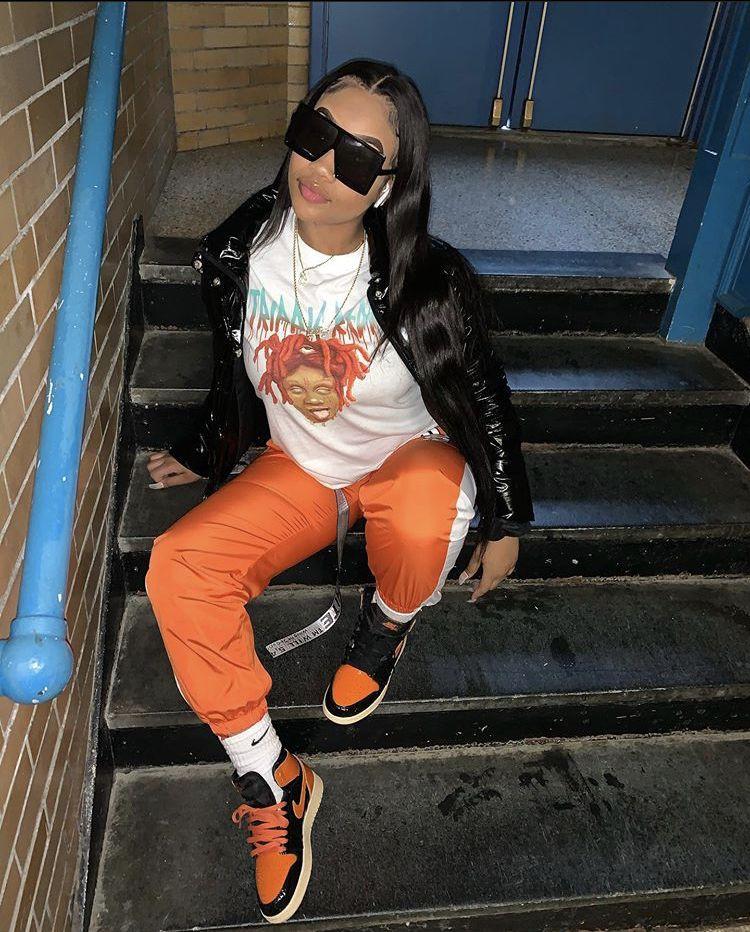 Orange colour outfit ideas 2020 with denim, jeans