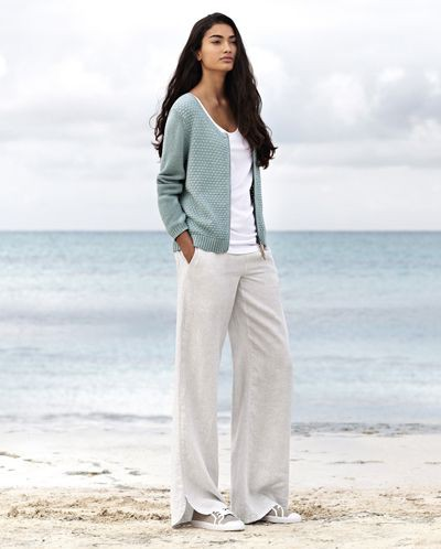 Wear with striped linen pants